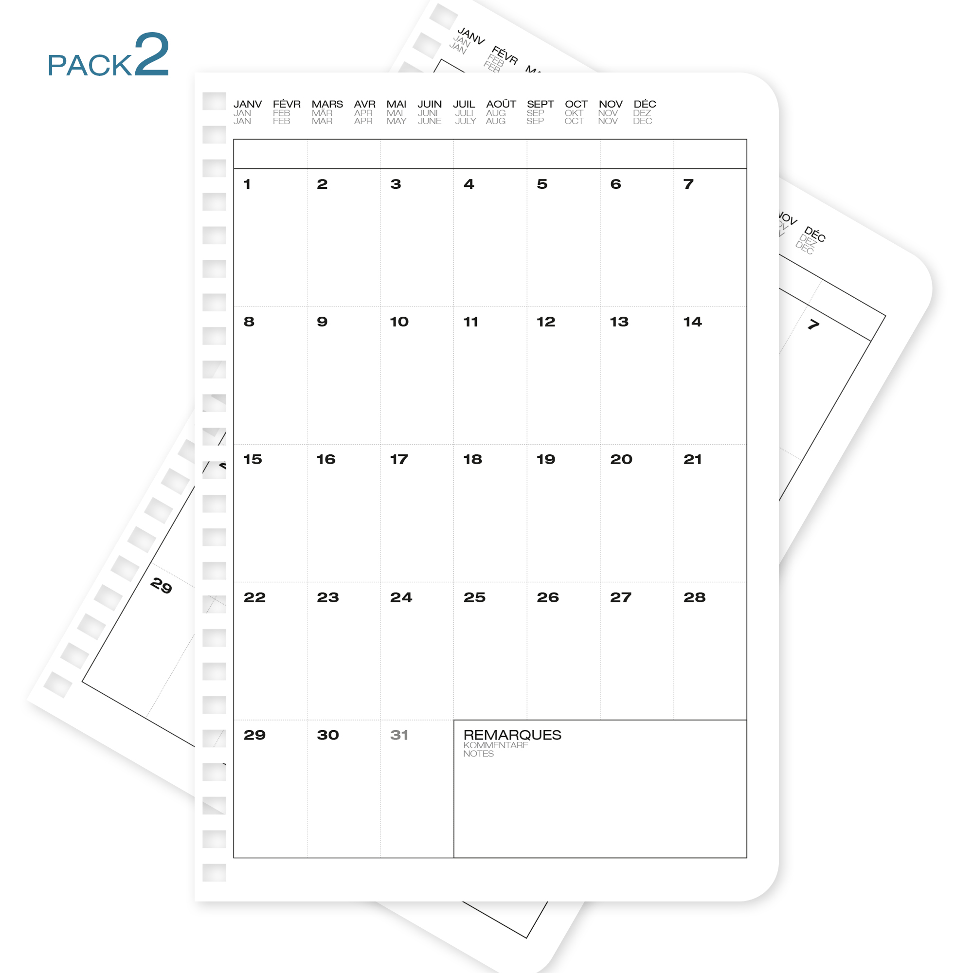 Recharges-A5-pack-5 - WhyNote agenda planner