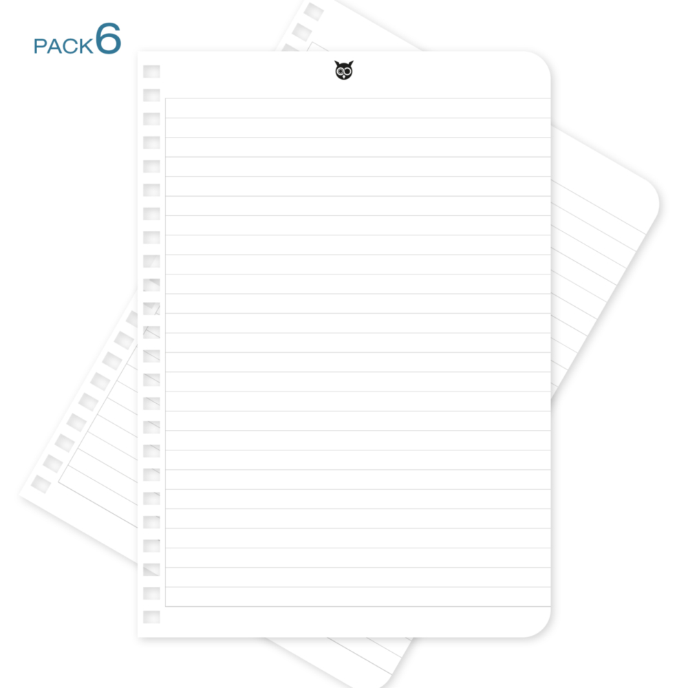 Recharges-A5-pack-6 - WhyNote agenda planner
